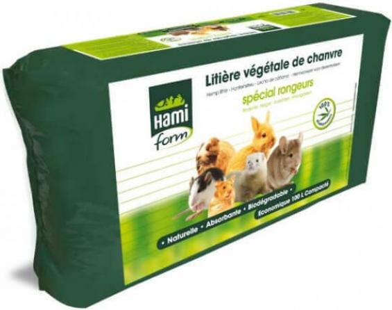 Litière de chanvre lapin et rongeurs de 10L à 100L