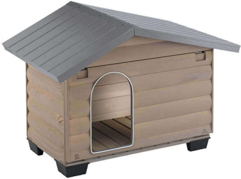 Niche pour chien robuste avec terrasse amovible