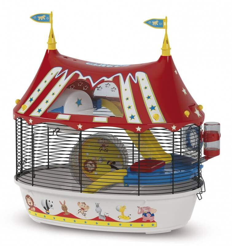 cage circus fun pour petit rongeur cage hamster. Black Bedroom Furniture Sets. Home Design Ideas