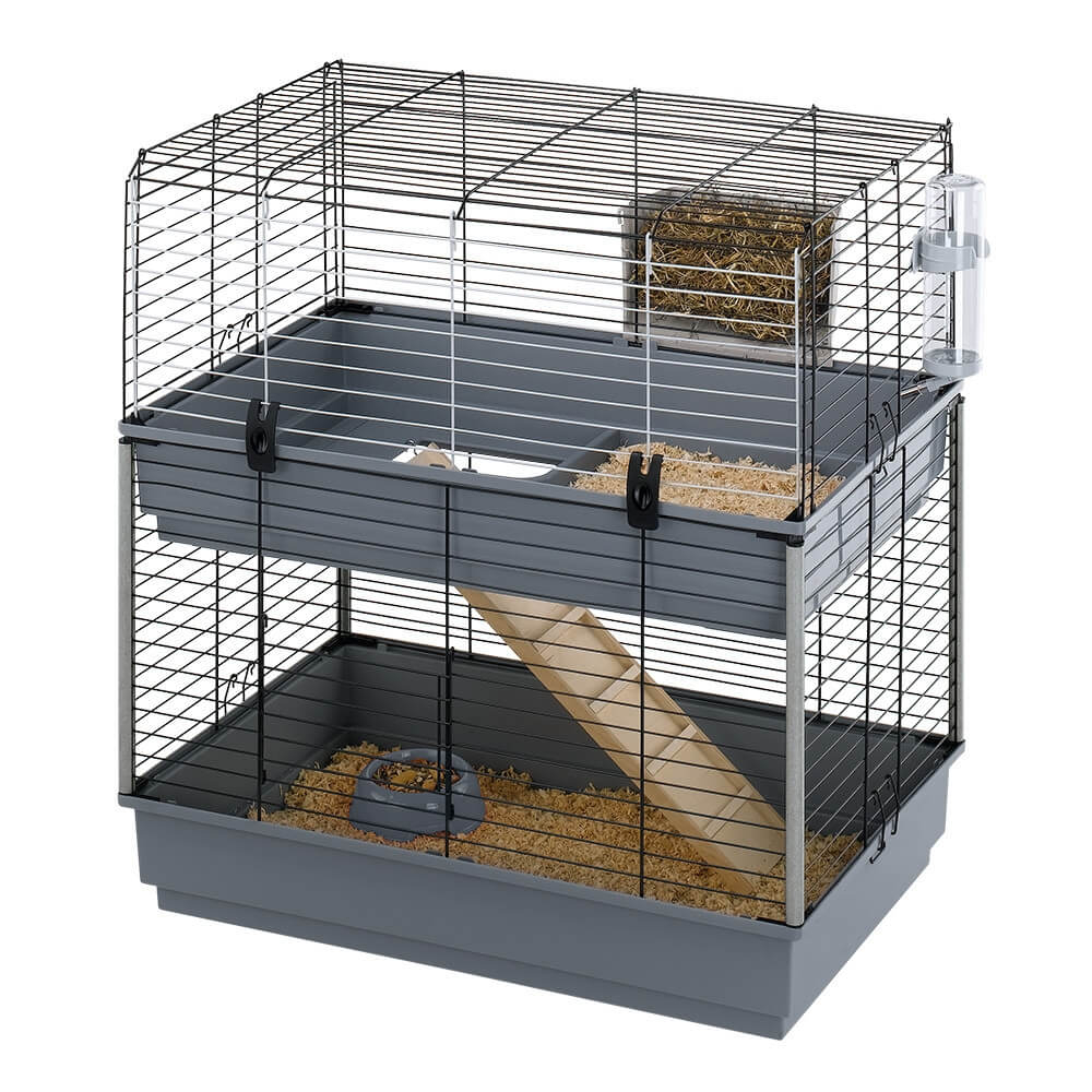 cage ferplast cavie 80 double pour lapin et cobaye cage. Black Bedroom Furniture Sets. Home Design Ideas