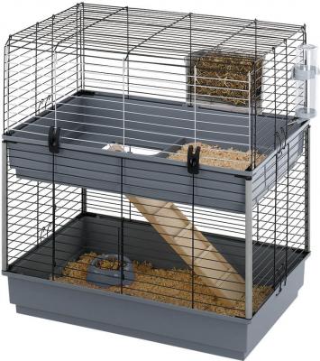 Jaula doble para conejos y roedores Cavie 80 cm