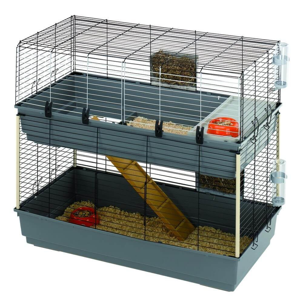 cage ferplast rabbit 120 double pour lapin cage lapin. Black Bedroom Furniture Sets. Home Design Ideas