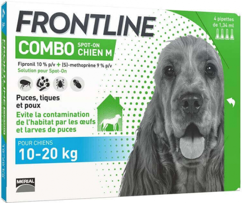 FRONTLINE COMBO Pipette antiparasitaires pour chien
