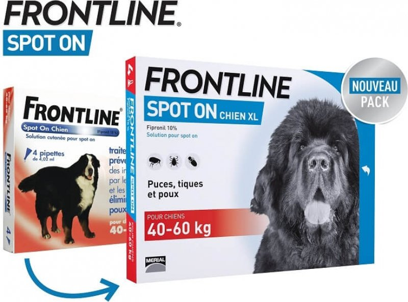 FRONTLINE Pipettes antiparasitaires pour chien Spot-On