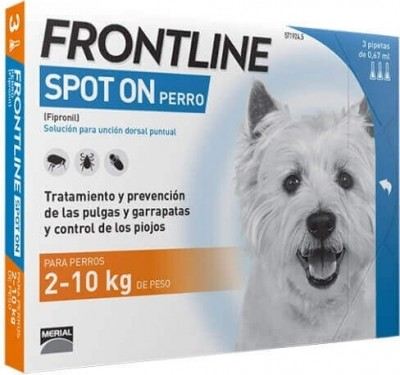 Pipeta antiparasitaria Frontline Spot para perro de 2 a 10 kg