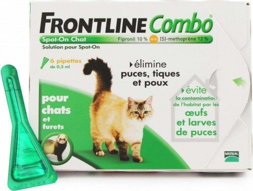 Pipetas antiparasitarias Frontline Combo gato  _1