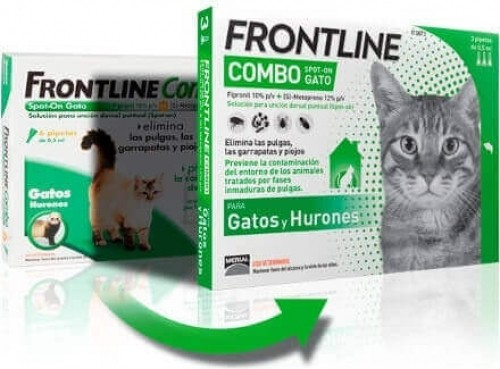 Pipetas antiparasitarias Frontline Combo gato