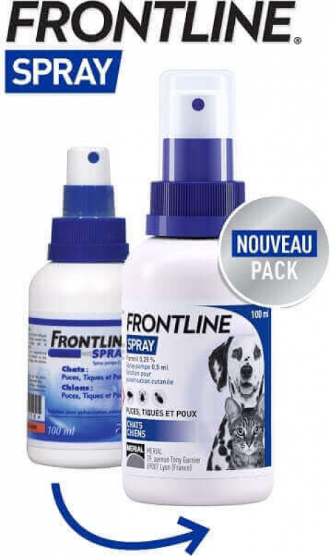 FRONTLINE Spray antiparasitaire pour chien et chat