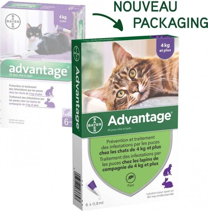 Advantage Pipettes anti-puces pour chat et lapin