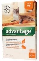 Advantage pipettes anti-parasitaires pour chat et lapin