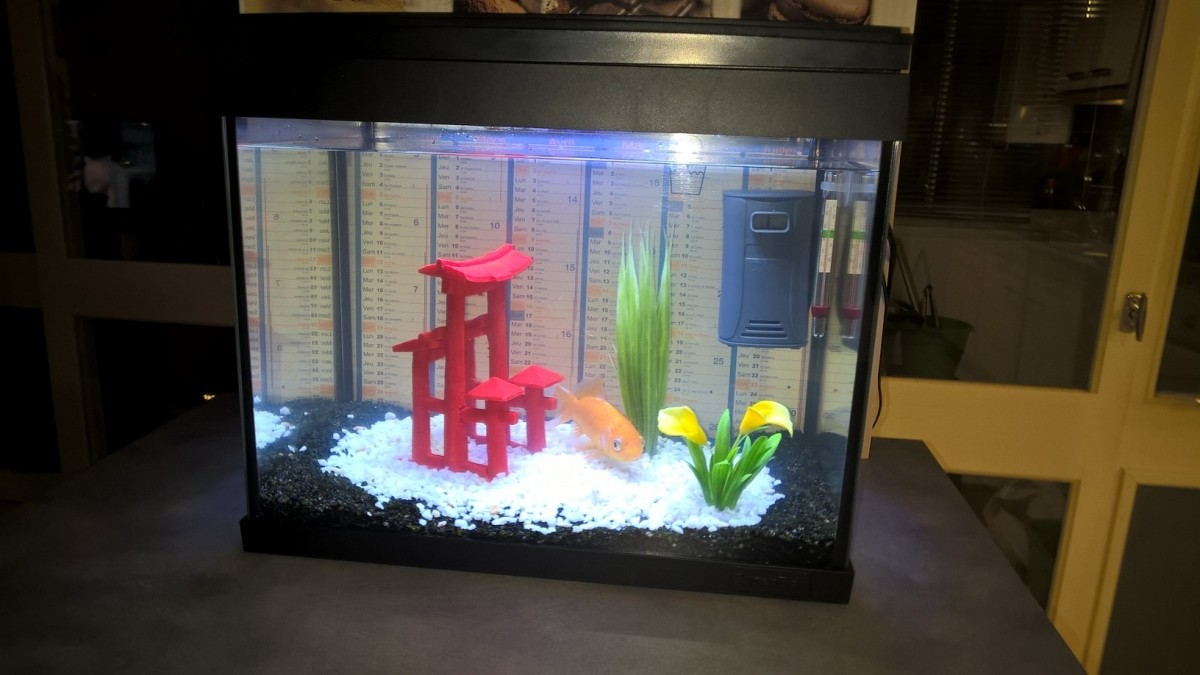 Aquarium 30 Litres Poisson Rouge aquarium aqua 20 led - kit poisson rouge