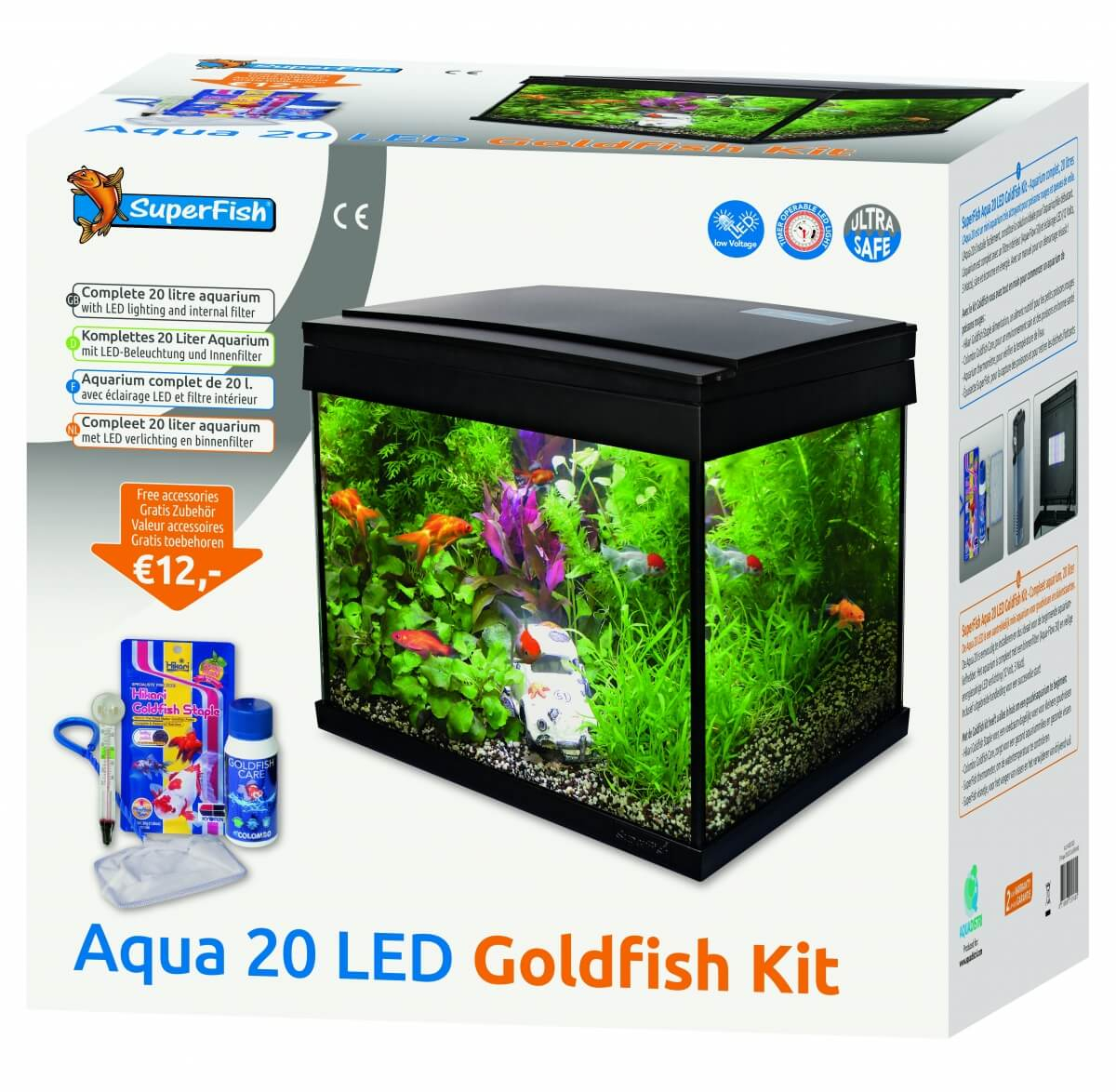 Aquarium Aqua 20 LED - Kit Poisson Rouge_0
