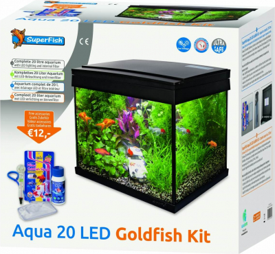 Aquarium Aqua 20 LED - Kit Poisson Rouge