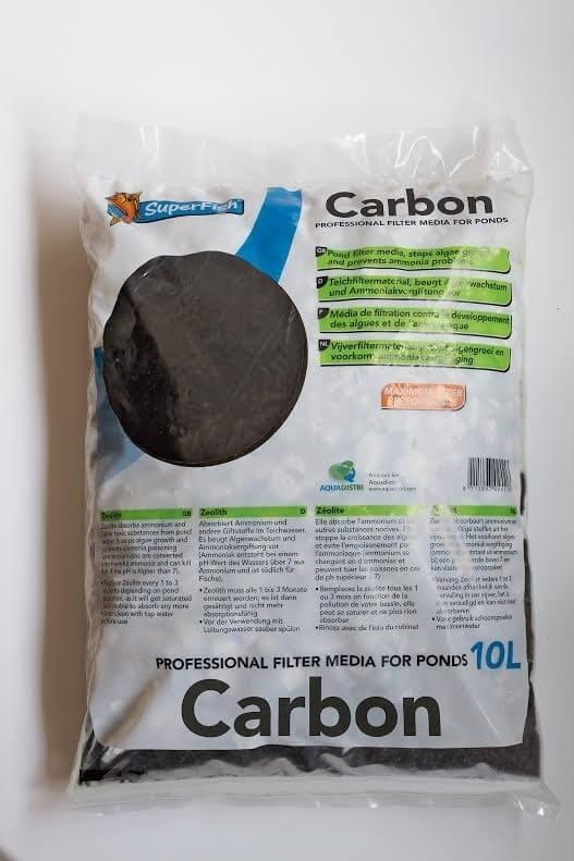Activated carbon pond filter media filter media and foam for Charcoal pond filter