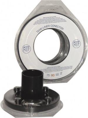 Connecteur professionnel bâche/bac pour raccordement Ø40 à 110mm