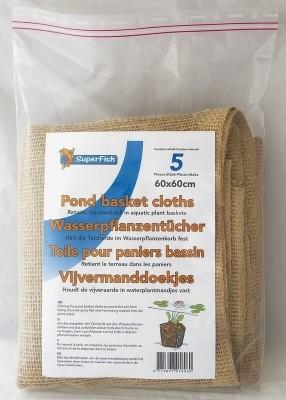 Toile pour paniers de bassin (x5)