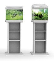meuble pour aquarium silver 20 30 40 litres argent aquarium et meuble. Black Bedroom Furniture Sets. Home Design Ideas