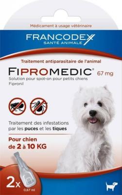 FIPROMEDIC 67 mg - Pipetten im 2-er und 4-er Pack - Gegen Flöhe und Zecken - kleine Hunde 2-10Kg