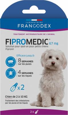 Francodex Fipromedic Pipettes anti-puces et tiques pour chiens