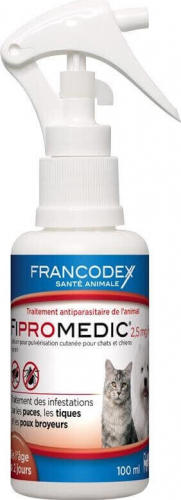 francodex fipromedic spray anti puces spray anti parasites. Black Bedroom Furniture Sets. Home Design Ideas