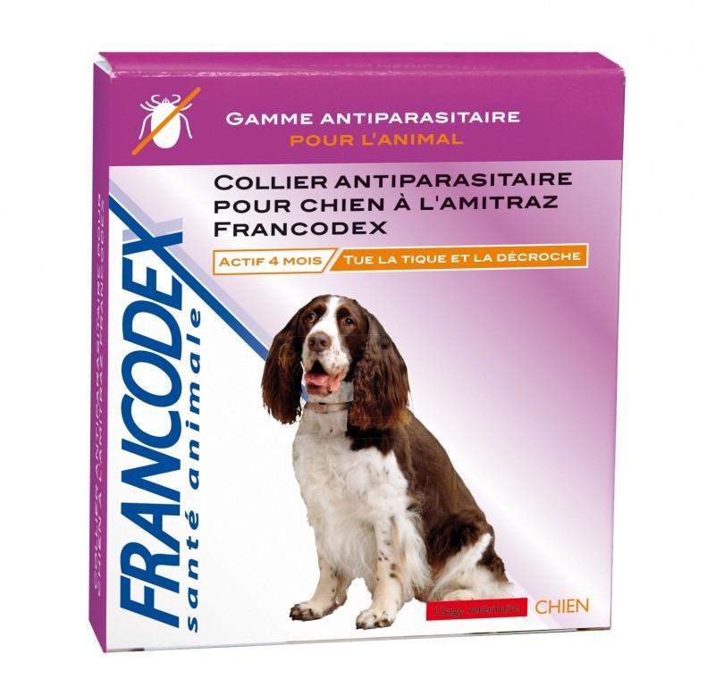 Collier antiparasitaire pour chien � l'Amitraz Francodex - Collier ...