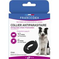 Francodex Collier Antiparasitaire - Efficacité anti-puces 300 jours et anti-tiques 200 jours