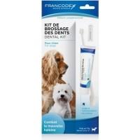 Francodex Kit de brossage des dents pour chien