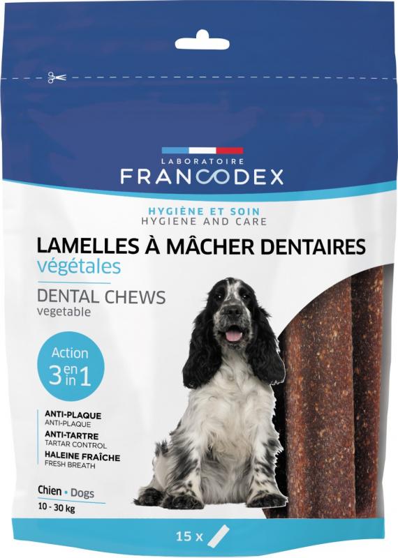 Francodex Lamelles à mâcher pour chien de 10 à 30 kg