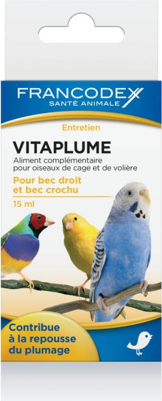 Francodex Vitaplume - pour la mue et la beauté du plumage 15ml