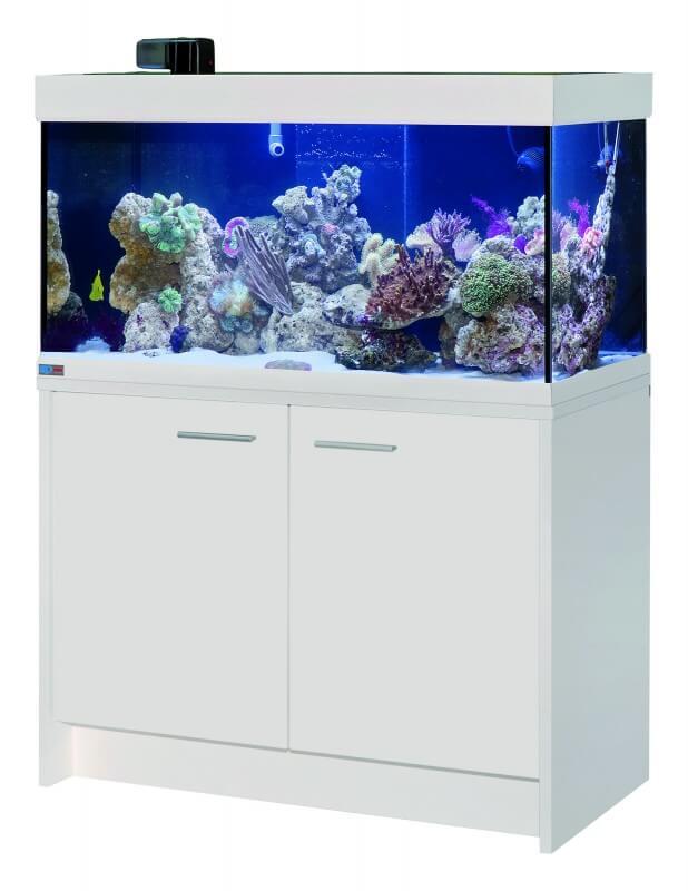 Aquarium scubaline 250 blanc aquarium et meuble for Aquarium avec meuble