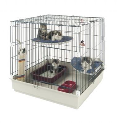 cage pour chatons cat park cage d 39 levage chaton. Black Bedroom Furniture Sets. Home Design Ideas