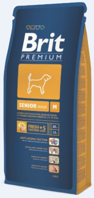 Brit Premium Senior für ältere Hunde mitelgroßer Rassen