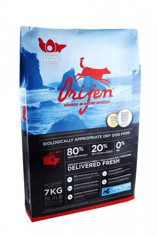 Orijen 6 fish dry dog food for Orijen six fish cat food