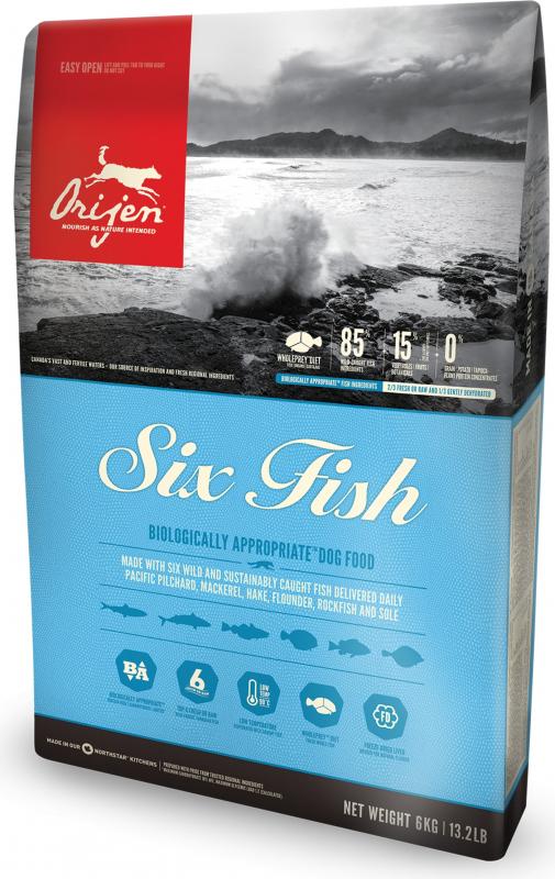 ORIJEN Six Fish Sans Céréales pour chien adulte et chiot