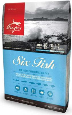 Orijen Adult Six Fish aux poissons pour chien