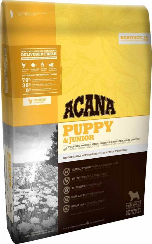 ACANA HERITAGE Puppy & Junior pour chiot et jeune chien