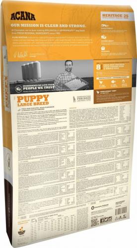 acana heritage puppy large breed pour chiot de grande. Black Bedroom Furniture Sets. Home Design Ideas