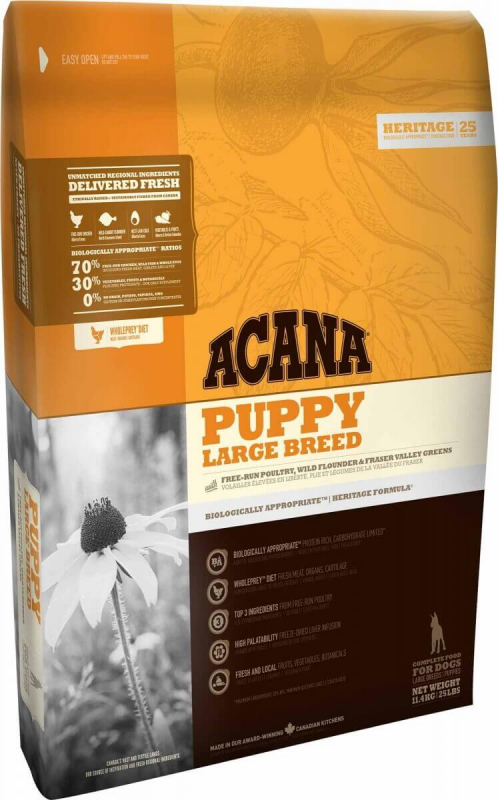 ACANA HERITAGE Puppy Large Breed pour chiot de grande taille