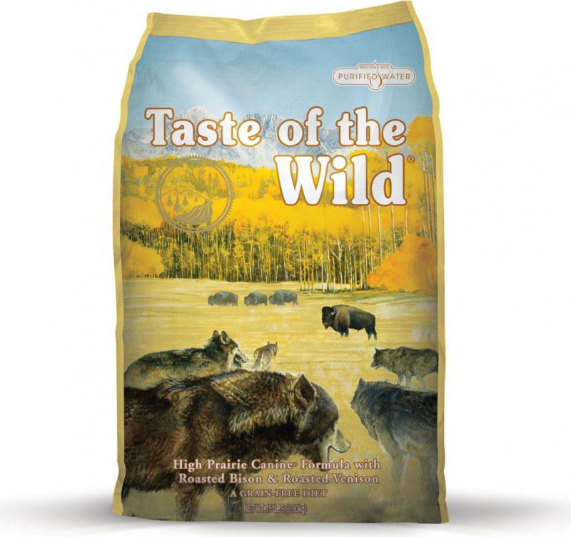 TASTE OF THE WILD High Prairie au Bisón & Ciervo Sin Cereales para perro