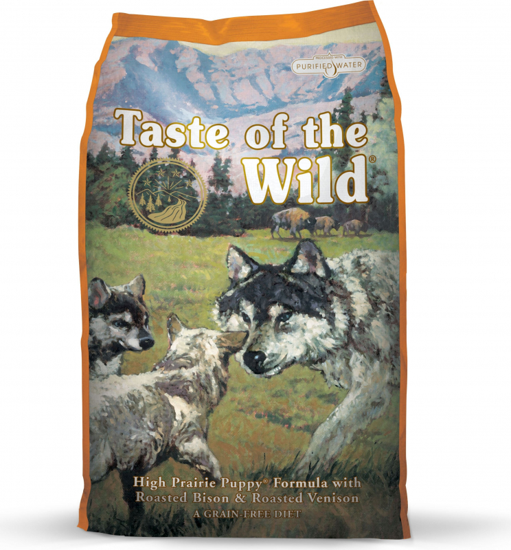 TASTE OF THE WILD PUPPY High Prairie au Bison & Cerf Sans Céréales pour chiot