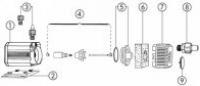 Joint de couvercle pour pompe Eheim 1048