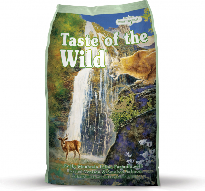 TASTE OF THE WILD Rocky Mountain au Cerf & Saumon Sans Céréales pour chat et chaton