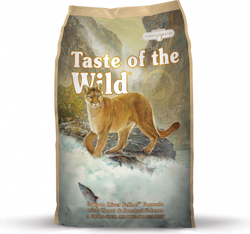 TASTE OF THE WILD Canyon River à la Truite & Saumon Sans Céréales pour chat
