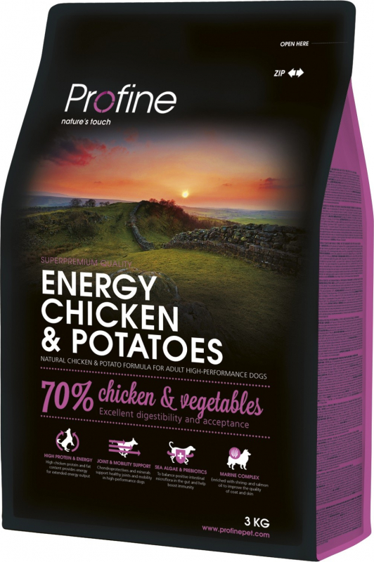 Profine Energy chicken & potatoes pour chiens actifs