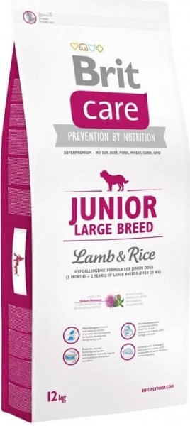 Brit Care Junior Large Breed Agneau & Riz pour Chiot Sensible de grande taille
