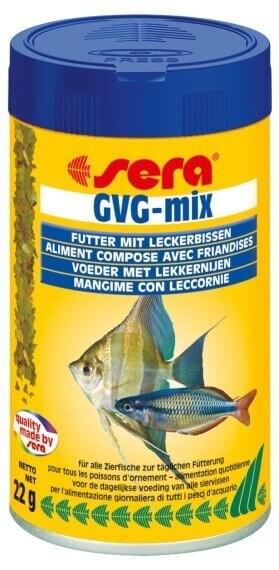 Flocons gvg mix pour poissons d 39 eau douce avec friandises for Flocon pour poisson
