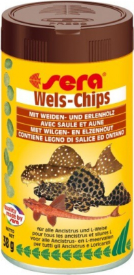 Aliments en chips Wels-Chips pour silures