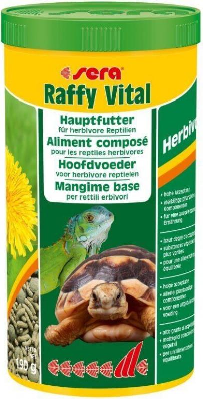 Raffy Vital alimento para tortugas terrestres y reptiles hervíboros