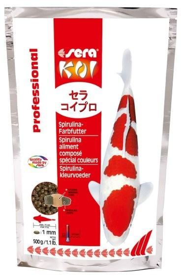 Koi professional spirulina farbfutter futter f r teichfische for Teichfische futter