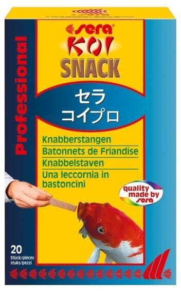 Koi snack knabberstangen zur handf tterung futter f r for Teichfische futter